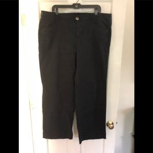Ladies Plus Lane Bryant Wide-Leg Black Chino